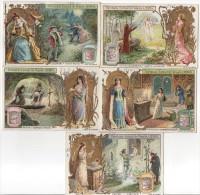 Lot De 5 Chromos Liebig - Série S 835 - Oeuvres Littéraires - Hugo - Dante - Goethe - Chateaubriand - Shakespeare - Liebig