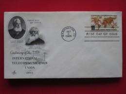 1965 USA - Scott # 1274 - International Telecommunication Union Centenary -  FDC - First Day Covers (FDCs)
