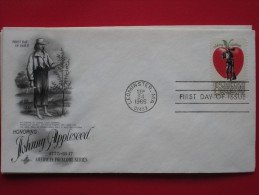 """1966 USA - Scott # 1317 - """"Johnny Appleseed"""" (American Folklore) - FDC - First Day Covers (FDCs)"""