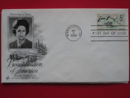 """1966 USA - Scott # 1318 - """"Beautification Of America"""" Campaign - FDC - First Day Covers (FDCs)"""