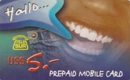 SURINAM - Telesur Prepaid Card US$5, Used
