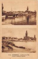 NORD  59  DUNKERQUE  LE PORT ET LA VILLE (AVANT ET APRES LA GUERRE) GUERRE 1939 45 DEUX VUES CACHET LILLE FLORALIES 1952 - Dunkerque