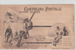 """CARTOLINA POSTALE""""RICORDO MILITARE"""" Autorizzata Dal Governo-Leggi Retro -Originale 100%-2 Scan-Vedi- - Militares"""
