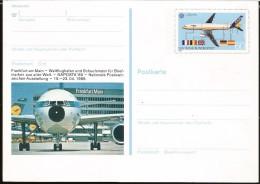 E)1988 GERMANY, AIRPLANE,  AIRBUS A 320, STAMP EUROPE CEPT, FRANKFURT AIRPORT POSTCARD - [6] Democratic Republic