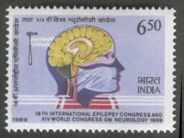 International EPILEPSY Congress And World Congress On Neurology, Reflex Hammer, Brain, MNH,1989, SG 1388 India - Medicina