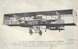 Le Vol De Farman Sur Aéroplane Voisin, Du Camp De Chalons à Reims En 1908 - Carte ND Phot. - ....-1914: Précurseurs