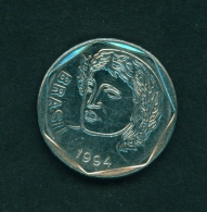 BRASIL  -  1994  25c  Circulated Coin - Brazil