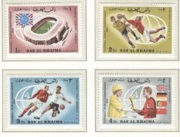 RAS AL KHAIMA Perforated Set Mint Without Hinge - 1966 – Inglaterra