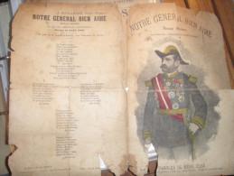NOTRE GENERAL BIEN AIME BOULANGER /RENE ESSSE AIR PIOUPIOUS D AUVERGNE - Partitions Musicales Anciennes