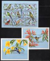 R.D.CONGO - 2000 - 3 BLOCS N° 163+164+165 -  COLIBRIS - República Democrática Del Congo (1997 - ...)