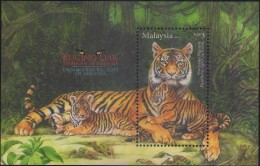 Malaysia 2013 S#1485 Endangered Big Cats M/S MNH Tiger Fauna - Malaysia (1964-...)