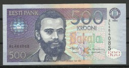 Estland Estonia Estonie  500 Krooni 1996 Bank Note UNC - Estonia