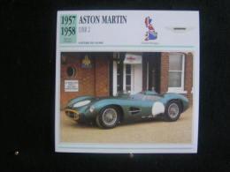 AP-sports / Aston Martin DBR1 Sports / Racing Voiture De Course - 1957 - Fiche Technique Automobile (Grande Bretagne) - Autos