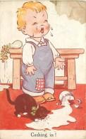 ILLUSTRATEUR DINAH CASHING IR ENFANT QUI PLEURE CHAT NOIR LAIT - Andere Illustrators