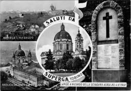 SALUTI DA SUPERGA  TO   LAPIDE A RICORDO SCIAGURA AEREA 1949      (VIAGGIATA) - Churches