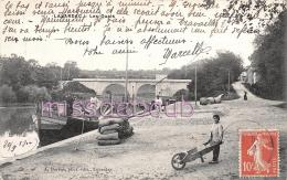 47- LAVARDAC  - Les Quais - Brouette -1910 -  2 Scans - Lavardac