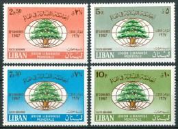 1968 Libano Lebanon 3°congrès De L'Union Libaneise à Beyrouth Set MNH** - Liban