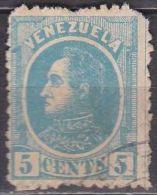 VENEZUELA 1880 Bolivar 5 Cents Lightblue SG 107 Y & T 24 - Venezuela