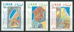 1968 Libano Lebanon 100th Municipal Council Architetture Architectures Set MNH** - Liban