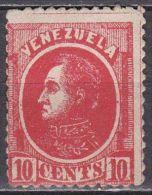 VENEZUELA 1880 Bolivar 10 Cents Red SG 108 (*) Y & T 25 (*) - Venezuela