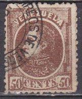 VENEZUELA 1880 Bolivar 50 Cents Brown SG 110 Y & T 27 - Venezuela
