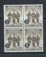 Australian Antarctic Territory 1959 5d Brown Explorers MNH Block Of 4 - Unused Stamps