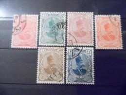 IRAN - 1899 -  N°113 à 118 Oblitéré - Iran