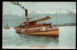[003] Zürichsee-Dampfer 'Speer', 1922, Eduard Weiller (Zürich) - Paquebote
