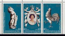 Nlles HÉBRIDES - N° 535/536** - 25è ANNIVERSAIRE DU COURONNEMENT DE S.M. ELIZABETH II - Légende Française