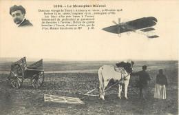 LE MONOPLAN BLERIOT VOYAGE DE TOURY A ARTHENAY AEROPLANE + CACHET AERODROME DE JUVISY PORT-AVIATON PLANE AVION - ....-1914: Précurseurs