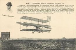 LE TRIPLAN MELVIN VANIMAN AEROPLANE + CACHET AERODROME DE JUVISY PORT-AVIATON PLANE AVION - ....-1914: Précurseurs