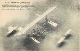 HELCOPLANE PAUL CORNU HELICOPTERE AEROPLANE + CACHET AERODROME DE JUVISY PORT-AVIATON PLANE AVION - Hélicoptères