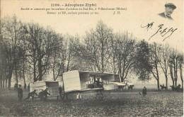 AEROPLANE ZIPFEL VILLEURBANNE + CACHET AERODROME DE JUVISY PORT-AVIATON PLANE AVION - Helicopters