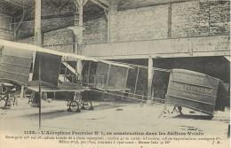 L'AEROPLANE FOURNIER N°1 ATELIERS VOISIN + CACHET AERODROME DE JUVISY PORT-AVIATON PLANE AVION - ....-1914: Précurseurs