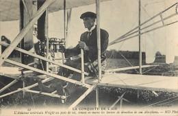 L'AVIATEUR WRIGHT AEROPLANE AVIATION PLANE AVION CACHET AERODROME JUVISY PORT AVIATION - Piloten