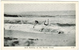 Surf Bathing On The Pacific Ocean - Postcards