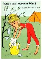 Cpsm Belgique Dessin Humour NOUS NOUS REPOSONS BIEN - Camping - Illustratoren & Fotografen