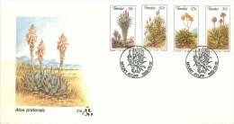 1986  Aloes  Complete Set On Single FDC - Transkei