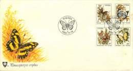 1980  Butterflies  Completee Set On Single FDC - Venda