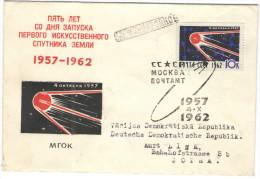 RUSSIA - RUSSIE - RUSSLAND - 1962 - 1957-1962 Space Race Satellite - FDC - Viaggiata Da Mosca Per Gotha, Germany DDR - FDC
