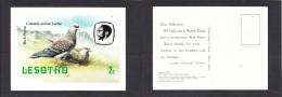 Lesotho Philatelic Bureau : 1981, Christmas Greeting Post Card, 2s, Rock Pigeon, Unused - Lesotho (1966-...)
