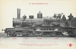 "Les Locomotives (Nord) - Machine N°2884 Type ""Outrance"" Pour Trains Express - Collection F. Fleury - Carte Non Circulée - Treni"