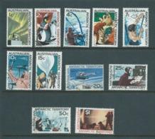Australian Antarctic Territory 1966 Definitive Scenes Set 11 FU - Unused Stamps