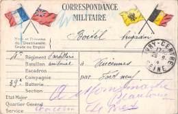 CORRESPONDANCE MILITAIRE / DRAPEAUX / 1914 - Guerre 1914-18