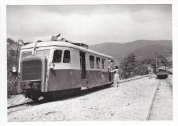 REPRODUCTION 48 Train Autorail Billard N°214 Wagon De Bois Au Rouve Jalcrest Vers Florac Le 09/08/1961 VOIR DOS - Florac