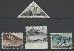1953 San Marino  Saint Marin SPORT I° 4v.: 1L, 2L, 5L, 100L  MNH** - Francobolli