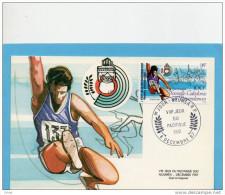 Nouvelle Calédonie - CARTE MAXIMUM- Sports -saut En Longueur- 1987 N°548 - Briefe U. Dokumente