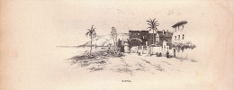 1896 - Gravure Sur Bois - Hyères (Var) - Giens - FRANCO DE PORT - Unclassified