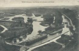 80, Somme, FRISE,131 Habitants, Les Etahgs De La Somme Et Le Canal, Péniches, Scan Recto-Verso - Autres Communes