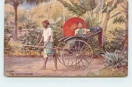 COLOMBO - Tamil Lady In Rickshaw (oilette) - Sri Lanka (Ceylon)
